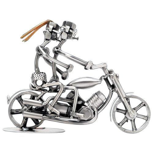 Moottoripyöräpariskunta