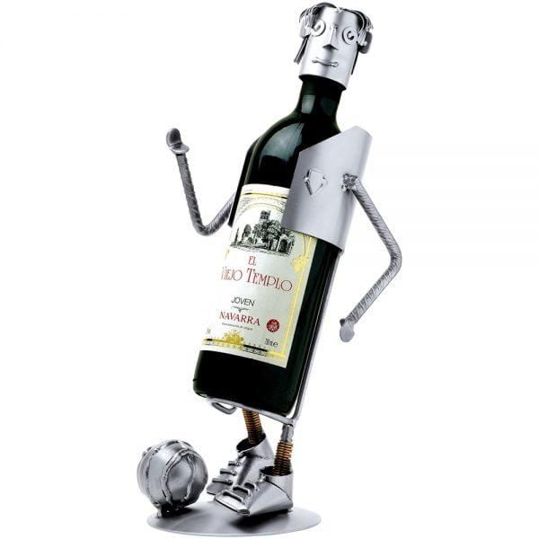 Jalkapalloilija viinipulloteline