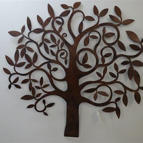 Puu seinäkoriste ruskea