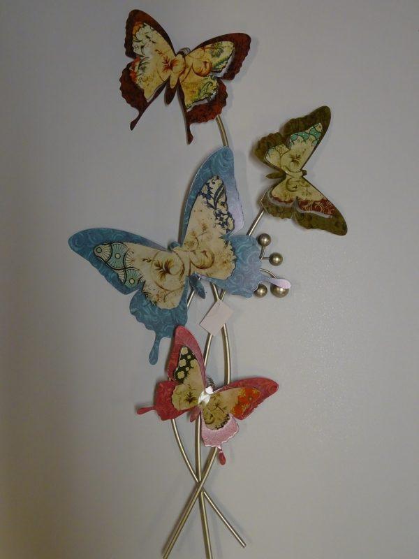Pystyperhot värikkäät perhoset seinäkoriste