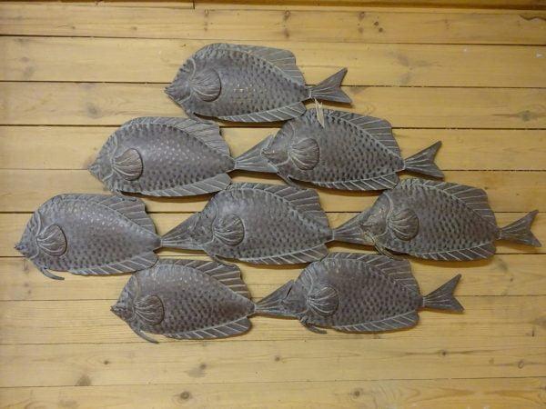 Parvi 2 suurikokoinen kala-aiheinen seinäveistos