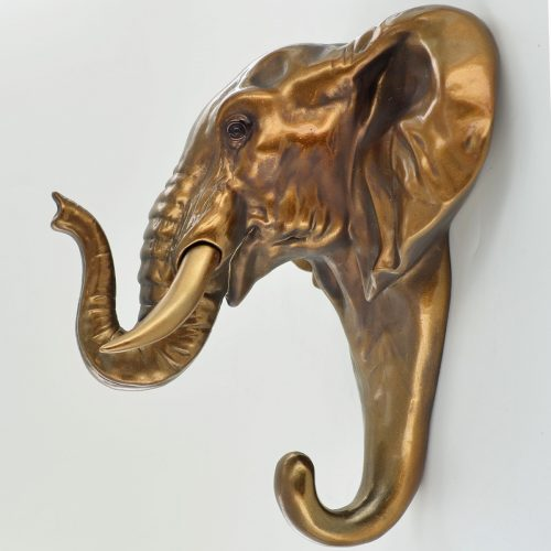 Seinäkoukku elefantti