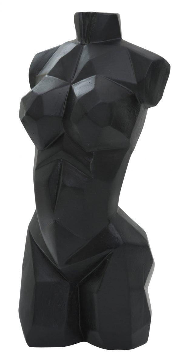 Naisen torso veistos pöytäkoriste