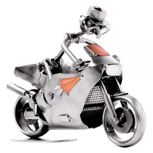 Moottoripyörä kilpa mutteriveistos