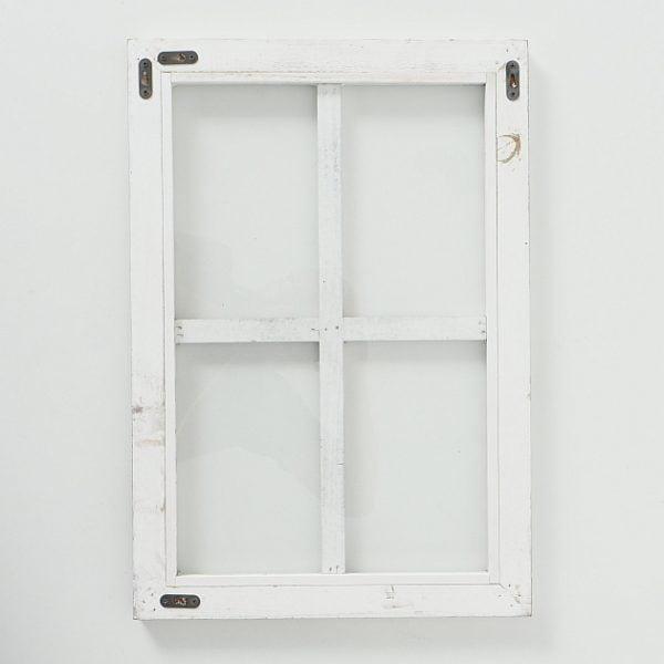 Puinen ikkunaruutu takaa, lisäkuva.