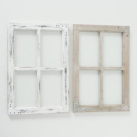 Puinen ikkunaruutu neljällä ruudulla.