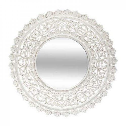 Pitsikoristeltu suuri peili